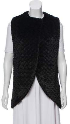 Alice + Olivia Textured Faux Fur Vest