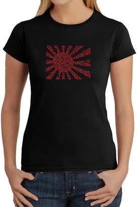 LOS ANGELES POP ART Los Angeles Pop Art Lyrics To The Japanese National Anthem Graphic T-Shirt