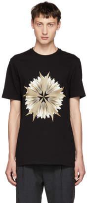 Neil Barrett Black Cross Floral Golden Aura T-Shirt