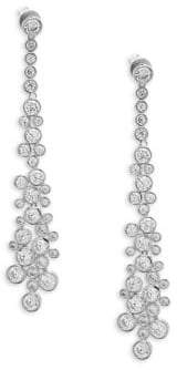 Saks Fifth Avenue Crystal and Sterling Silver Drop Earrings