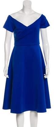 Saloni Rachele Off-The-Shoulder Midi Dress w/ Tags