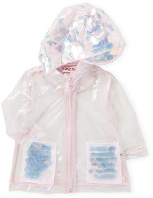 Urban Republic Infant Girls) Pink Transparent Sequin Raincoat
