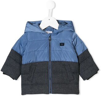 Emporio Armani Kids hooded down jacket