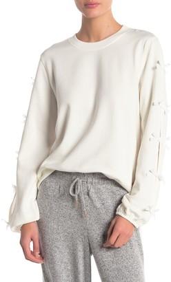 Betsey Johnson Knit Bow Sweatshirt