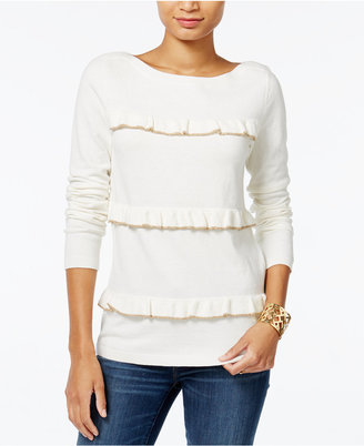 Tommy Hilfiger Raquel Ruffled Sweater, Only at Macy's $79.50 thestylecure.com
