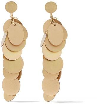 Lia Di Gregorio 18kt yellow gold Pianino hanging earrings
