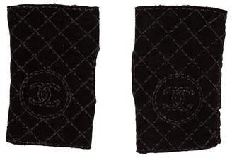 Chanel Quilted Fingerless CC Gloves