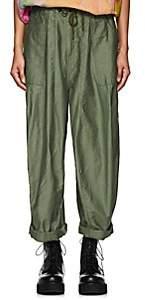 Needles Women's Cotton Canvas Baggy Pants - Olive