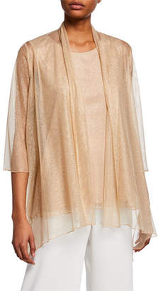 1f9a43931db Caroline Rose Plus Size Twinkle Metallic Shimmer Mesh Cardigan