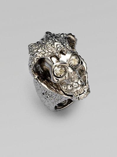 Alexander McQueen Snake & Skull Ring