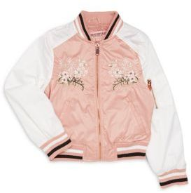 Girl's Floral Embroidered Jacket $74 thestylecure.com