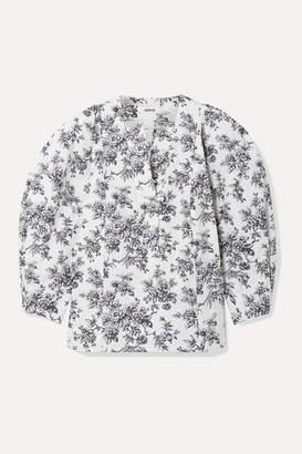 Jason Wu Floral-print Cotton-poplin Blouse - White