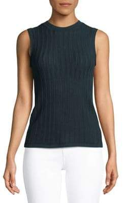 Theory Pointelle Criss-Cross Back Sleeveless Top