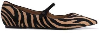 Tabitha Simmons Hermione zebra-print flats