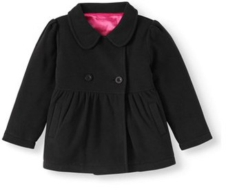 Lavender Polar Fleece Peacoat (Baby Girls & Toddler Girls)
