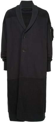 Julius off centre fastening coat