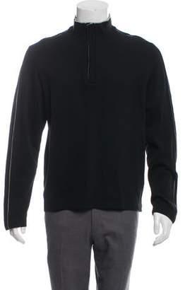 HUGO BOSS Boss by Rib Knit Mock Neck Sweater