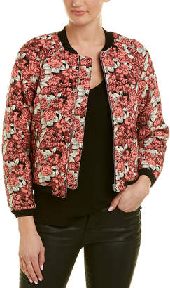 Sandro Floral Bomber Jacket