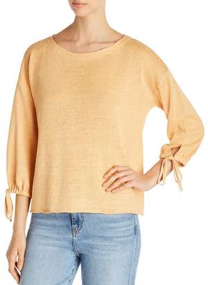 Eileen Fisher Organic Linen Tie-Cuff Sweater - 100% Exclusive