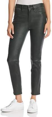 Rag & Bone Leather Ankle Cigarette Pants