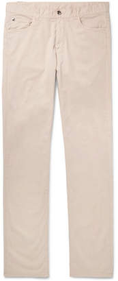 Canali Slim-fit Stretch-cotton Twill Chinos - Sand