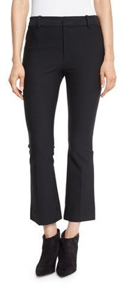 Derek Lam 10 Crosby Cropped Flare Stretch Trousers, Black $325 thestylecure.com