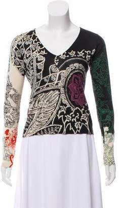 Etro Paisley Print Silk-Cashmere Sweater
