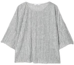 MANGO Textured flowy t-shirt