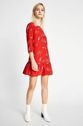 Jack Wills cotterell print drop waist dress