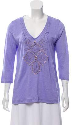 Calypso Linen Embroidered Top