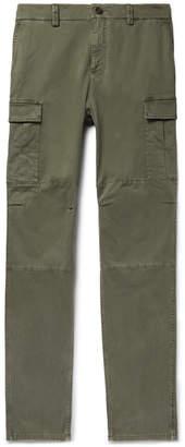 Brunello Cucinelli Herringbone Stretch-Cotton Cargo Trousers