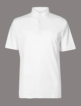 Marks and Spencer Pure Cotton Textured Polo Shirt