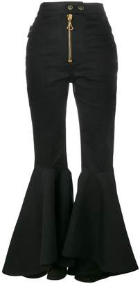 Ellery flared high waisted trousers