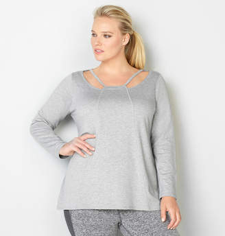 Avenue Seamed Cutout French Terry Active Top