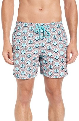 Men's Vilbrequin Anchor Embroidered Swim Trunks $590 thestylecure.com