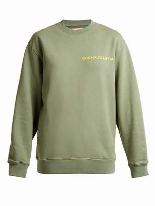 Eckhaus Latta Round-neck logo-print cotton sweatshirt