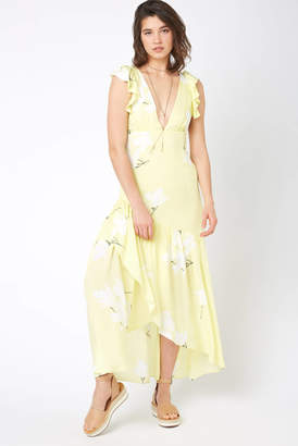 Free People She's A Waterfall Maxi Dress Yellow 4