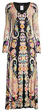 Etro Women's Jersey Paisley Long Sleeve Dress