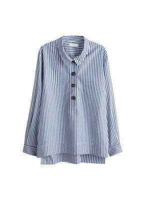 Violeta BY MANGO Striped cotton shirt