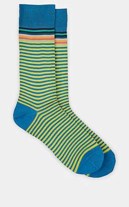 Paul Smith Men's Artist Striped Cotton-Blend Mid-Calf Socks