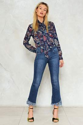 Nasty Gal Flare to Be Different Cropped Jeans