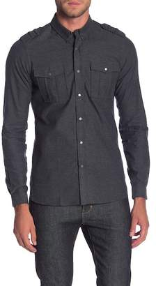 The Kooples Melton Flanelle Shirt