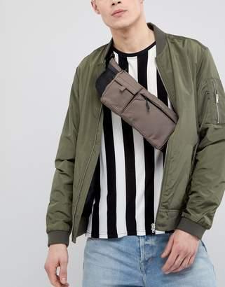 Asos Design Utility Cross Body Bum Bag In Brown