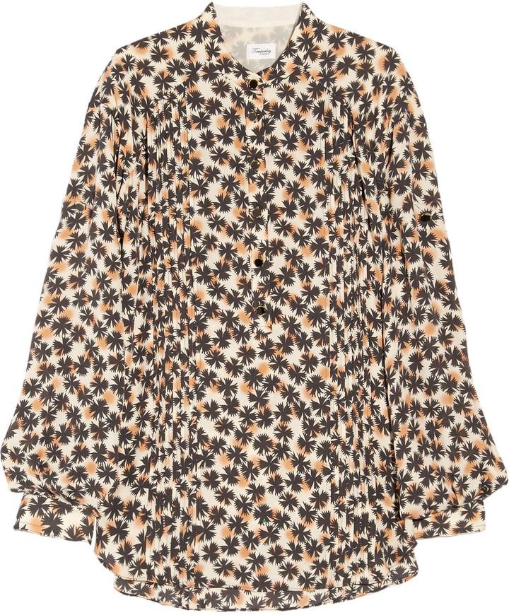 Temperley London Japonica printed silk blouse