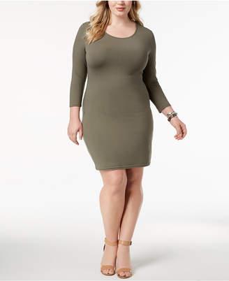 Say What Trendy Plus Size Bodycon Dress