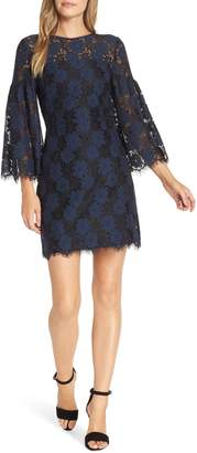 Trina Turk Two-Tone Lace Shift Dress