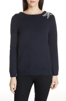 BA&SH Ourea Jewel Detail Wool Cashmere Sweater