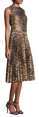 RED ValentinoRED Valentino Pleated Leopard Jacquard Dress