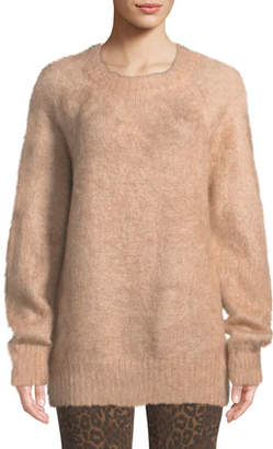 Alexander Wang Mohair Crewneck Pullover Sweater