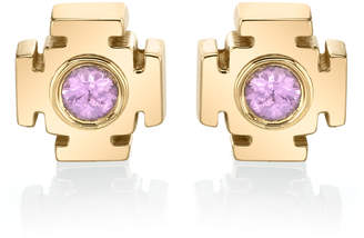 Ark Gateway 18K Gold Sapphire Earrings